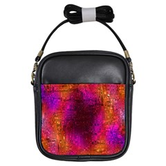 Purple Orange Pink Colorful Girls Sling Bags