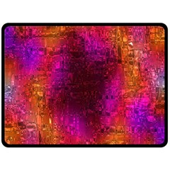 Purple Orange Pink Colorful Fleece Blanket (Large)