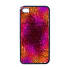 Purple Orange Pink Colorful Apple iPhone 4 Case (Black)