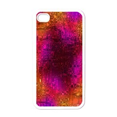 Purple Orange Pink Colorful Apple iPhone 4 Case (White)