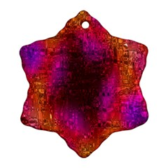 Purple Orange Pink Colorful Ornament (Snowflake)