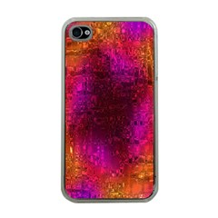 Purple Orange Pink Colorful Apple iPhone 4 Case (Clear)