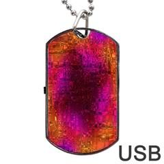 Purple Orange Pink Colorful Dog Tag USB Flash (Two Sides)
