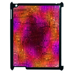 Purple Orange Pink Colorful Apple iPad 2 Case (Black)