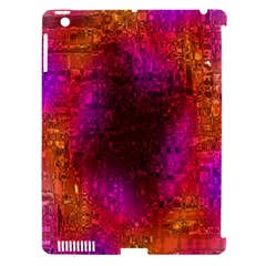Purple Orange Pink Colorful Apple iPad 3/4 Hardshell Case (Compatible with Smart Cover)