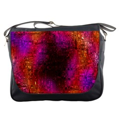 Purple Orange Pink Colorful Messenger Bags