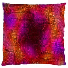 Purple Orange Pink Colorful Large Cushion Case (Two Sides)