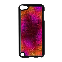 Purple Orange Pink Colorful Apple iPod Touch 5 Case (Black)