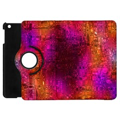 Purple Orange Pink Colorful Apple iPad Mini Flip 360 Case