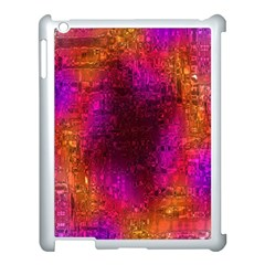 Purple Orange Pink Colorful Apple iPad 3/4 Case (White)
