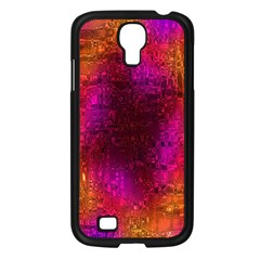 Purple Orange Pink Colorful Samsung Galaxy S4 I9500/ I9505 Case (Black)