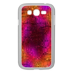 Purple Orange Pink Colorful Samsung Galaxy Grand DUOS I9082 Case (White)
