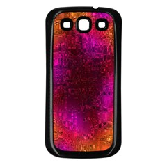 Purple Orange Pink Colorful Samsung Galaxy S3 Back Case (Black)