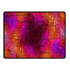 Purple Orange Pink Colorful Double Sided Fleece Blanket (Small)