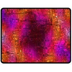 Purple Orange Pink Colorful Double Sided Fleece Blanket (Medium)