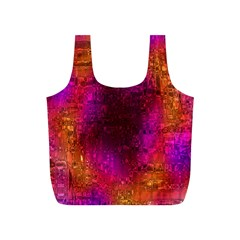 Purple Orange Pink Colorful Full Print Recycle Bags (S)