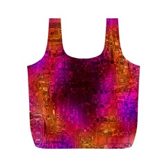Purple Orange Pink Colorful Full Print Recycle Bags (M)