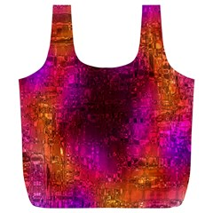 Purple Orange Pink Colorful Full Print Recycle Bags (L)