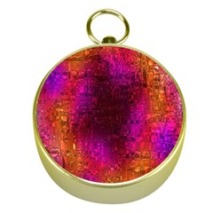 Purple Orange Pink Colorful Gold Compasses