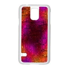 Purple Orange Pink Colorful Samsung Galaxy S5 Case (White)
