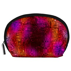 Purple Orange Pink Colorful Accessory Pouches (Large)