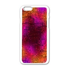Purple Orange Pink Colorful Apple iPhone 6/6S White Enamel Case