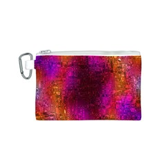 Purple Orange Pink Colorful Canvas Cosmetic Bag (S)