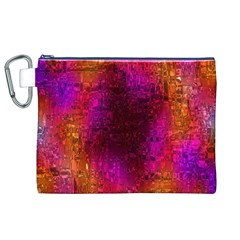 Purple Orange Pink Colorful Canvas Cosmetic Bag (XL)