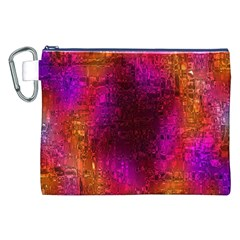 Purple Orange Pink Colorful Canvas Cosmetic Bag (XXL)
