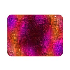 Purple Orange Pink Colorful Double Sided Flano Blanket (Mini)