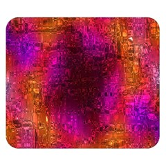 Purple Orange Pink Colorful Double Sided Flano Blanket (Small)