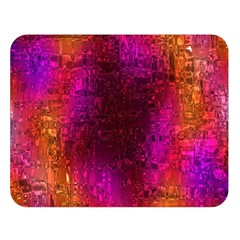Purple Orange Pink Colorful Double Sided Flano Blanket (Large)