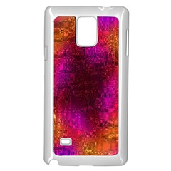 Purple Orange Pink Colorful Samsung Galaxy Note 4 Case (White)