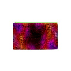 Purple Orange Pink Colorful Cosmetic Bag (XS)