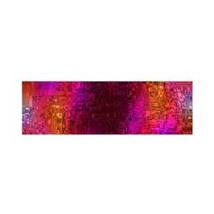 Purple Orange Pink Colorful Satin Scarf (Oblong)
