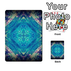 Boho Hippie Tie Dye Retro Seventies Blue Violet Multi-purpose Cards (Rectangle)