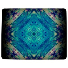 Boho Hippie Tie Dye Retro Seventies Blue Violet Jigsaw Puzzle Photo Stand (rectangular)