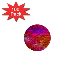 Purple Orange Pink Colorful Art 1  Mini Buttons (100 pack)