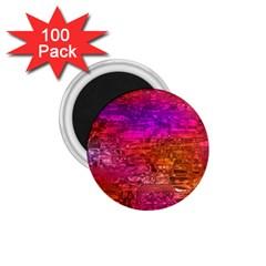 Purple Orange Pink Colorful Art 1.75  Magnets (100 pack)