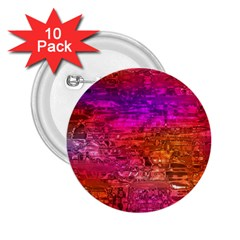 Purple Orange Pink Colorful Art 2.25  Buttons (10 pack)