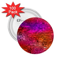 Purple Orange Pink Colorful Art 2.25  Buttons (100 pack)