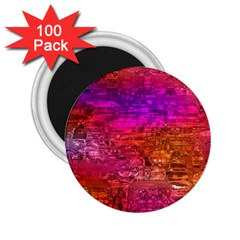 Purple Orange Pink Colorful Art 2.25  Magnets (100 pack)