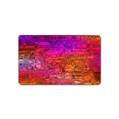 Purple Orange Pink Colorful Art Magnet (Name Card)