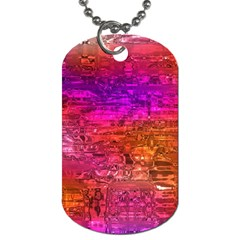 Purple Orange Pink Colorful Art Dog Tag (Two Sides)