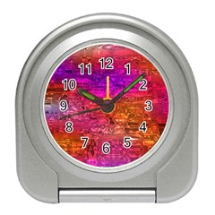 Purple Orange Pink Colorful Art Travel Alarm Clocks