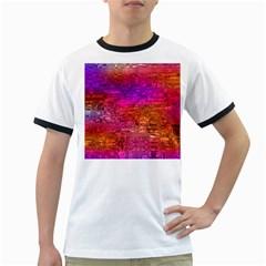Purple Orange Pink Colorful Art Ringer T-Shirts