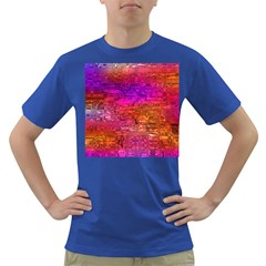 Purple Orange Pink Colorful Art Dark T-Shirt