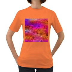 Purple Orange Pink Colorful Art Women s Dark T-Shirt