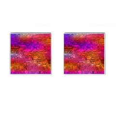 Purple Orange Pink Colorful Art Cufflinks (Square)