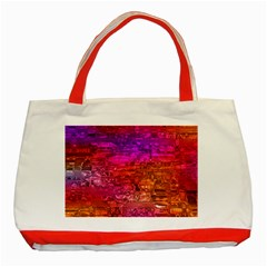 Purple Orange Pink Colorful Art Classic Tote Bag (Red)